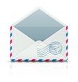 airmail envelope vector image