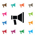 isolated megaphone icon amplification vector image