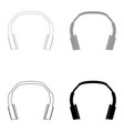 headphones the black and grey color set icon vector image