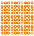 100 south america icons set orange vector image vector image