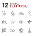 12 small icons vector image vector image