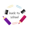 abstract back to school background with short vector image vector image