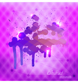 Abstract blots on a triangular background vector image vector image
