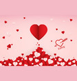 abstract paper art love heart background vector image vector image