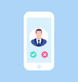 avatar man in phone man call me business concept vector image vector image