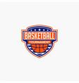 basketball club badge logo-3 vector image vector image