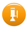 beer tap icon orange vector image vector image
