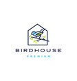 bird house logo icon vector image vector image