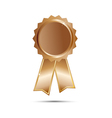 Bronze Seal Award Ribbon on white background vector image