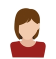 businesswoman character avatar isolated vector image