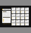 calendar 2020 design template with picture frame