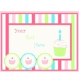Card with capcakes vector image vector image