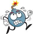 Cartoon Running Bomb vector image