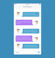 Chat frames message boxes for your text vector image