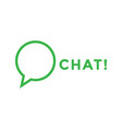 chat logo icon design template vector image vector image