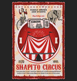 circus elephant and acrobat with carnival top tent vector image vector image