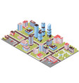 city buildings isometric composition vector image vector image