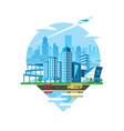 cityscape emblem daylight version vector image