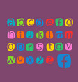 color alphabet set color letters collection vector image vector image