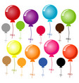 colorful balloon on white background vector image