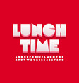 concept sign lunch time abstract style alphabet vector image