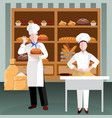 cooking people flat composition vector image vector image