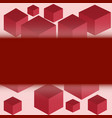cubes of red color vector image
