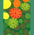 cute background bright summer fruits fruit mix vector image vector image
