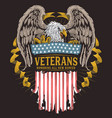 eagle usa veterans vector image