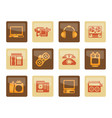 electronics media and technical equipment icons vector image
