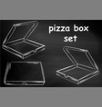 empty cardboard box packaging for pizza chalk vector image vector image