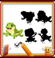 find the correct shadow cartoon funny frog educa vector image vector image