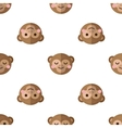 flat cartoon monkey seamless pattern vector image vector image