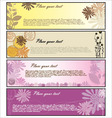 floral banners vector image vector image