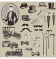 Gentlemens accessories and old cars vector | Price: 1 Credit (USD $1)