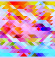 graphic bright abstract background with triangles vector image