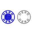 grunge hero textured watermarks vector image vector image