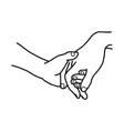hand of lover holding with love vector image vector image