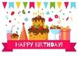 Happy Birthday set vector image vector image