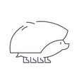 hedgehog line icon sign on vector image vector image
