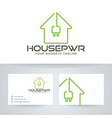 house power logo design vector image