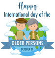 international day older persons 1st vector image vector image