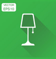 lamp furniture icon business concept lamp vector image vector image