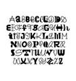 lettering handmade font decorative alphabet black vector image vector image