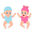 newborn girl and boy cute little male and female vector image