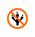 no animal prohibition or forbidden sign vector image