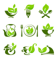 Organic food design elements vector image vector image