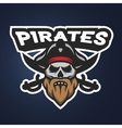 Pirate captain skull Sport emblem vector image vector image