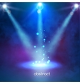 Premiere Blue Show background sparkles Smoky vector image