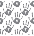 Prints of hands seamless pattern vector image vector image